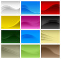 Abstract Background Wave Vector A4 Royalty Free Stock Photos