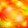 Abstract background with yellow leaves and sun glare Royalty Free Stock Images