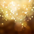 Abstract background yellow shine with bokeh Royalty Free Stock Images