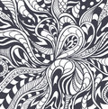 Abstract background in zen tangle zen doodle style black on white or pattern or texture for coloring page or relax coloring book Stock Photos
