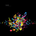 Abstract backgrounds with colorful tunes vector art Stock Photography