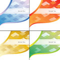 Abstract Backgrounds Set Stock Photos