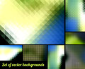 Abstract backgrounds set of color Royalty Free Stock Images