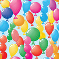 Abstract balloons background. Seamless. Royalty Free Stock Photo