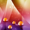 Abstract balls ball background on a colorful surface Stock Photography