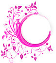 Abstract banner with curls of pink color this is file eps format Royalty Free Stock Image
