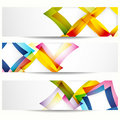 Abstract banner with rhombus forms. Royalty Free Stock Image