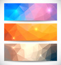 Abstract banners collection. Royalty Free Stock Photo