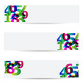 Abstract banners with colorful numbers Royalty Free Stock Photography