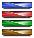 Abstract banners set of four on white surface Stock Photography