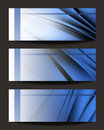 Abstract banners set of three Stock Photo