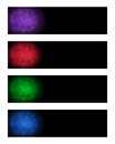 Abstract banners set of in various colors Royalty Free Stock Image