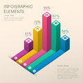 Abstract bar chart infographics colorful vector infographic elements Stock Photography
