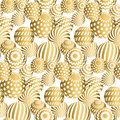 Abstract beads seamless pattern in gold xmas color Royalty Free Stock Photo
