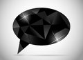 Abstract beautiful diamond speech bubble vector illustration this is file of eps format Stock Photos
