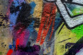 Abstract beautiful street art colorful graffiti style closeup. Detail of wall. Can be useful for backgrounds, stylish Royalty Free Stock Photo