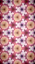 Abstract beautify flower bokeh pattern background fiower pink purple red white color wallpaper Stock Images