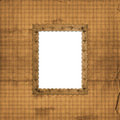 Abstract beige background and victorian frame Royalty Free Stock Photography