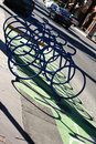 Abstract bike racks Royalty Free Stock Photo