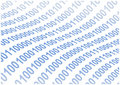 Abstract binary code waves background Royalty Free Stock Photo