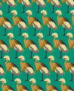 Abstract birds background, fashion seamless pattern, vector wallpaper Royalty Free Stock Photo