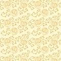 Abstract birds floral decorative batik seamless pattern Royalty Free Stock Photo