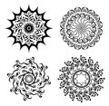 Abstract black elements for design - vector set Royalty Free Stock Photo