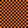 Abstract black and orange color square background for halloween theme Royalty Free Stock Photo
