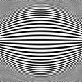 Abstract black stripe line op art fish eye background Royalty Free Stock Photo