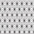 Abstract black triangle line pattern on white monochrome seamless background vector Royalty Free Stock Photo