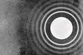 Abstract black and white background with circles rings pattern and grunge texture Royalty Free Stock Photo
