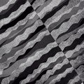 Abstract black and white background with layered waves of textured material design Royalty Free Stock Photo