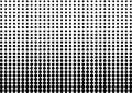 Abstract black and white color of geometric shapes halftone pattern. Texture pixel Curved mosaic dotted background. Pop art