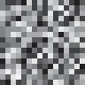 Abstract black and white geometrical background with squares Stock Images