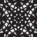 Abstract black and white geometrical seamless pattern Royalty Free Stock Images