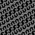 Abstract black and white hexagon pattern background
