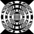 Abstract black and white ornament Royalty Free Stock Photography