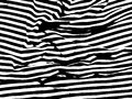 Abstract black and white pattern with irregular lines and streaks.
