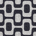 Abstract black and white pavement pattern Stock Photos