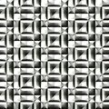 Abstract black and white plastic pattern.  Metallic silver 3D surface. Checked relief.  Texture background. Seamless illustration. Royalty Free Stock Photo