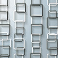 Abstract black and white rectangle chains on the grey background eps file Royalty Free Stock Images