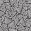 Abstract black and white seamless pattern vector illustration Royalty Free Stock Photos