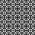Abstract black & white specular ornament, seamless pattern