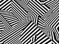 Abstract black and white striped optical illusion three dimensio Royalty Free Stock Photo