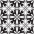Abstract black and white tiles geometric seamless pattern Stock Images