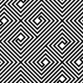 Abstract Black and White ZigZag Vector Seamless Pattern Royalty Free Stock Photo
