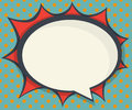 Abstract blank speech bubble comic book, pop art Royalty Free Stock Photo