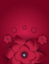 Abstract Blossom Floral Greeting Card Background