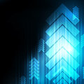 Abstract Blue Arrows technology communicate background,  i Royalty Free Stock Photo