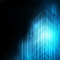 Abstract Blue Arrows technology communicate background,  illustration Royalty Free Stock Photo